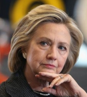 Hillary Clinton Campigns In Iowa, Meeting With Small Business Owners